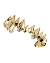 Alexis Bittar | Metallic Golden Spear Cuff With Pave Crystals | Lyst