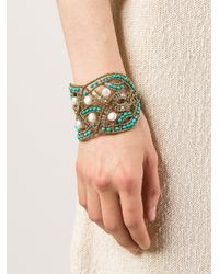 Ziio - Blue Beaded Bracelet - Lyst