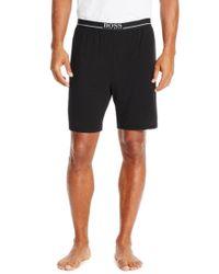 BOSS - Black 'short Pant Ew' | Stretch Modal Lounge Shorts for Men - Lyst