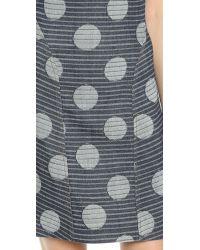 KENZO | Blue Denim Dots & Stripes Dress - Navy | Lyst