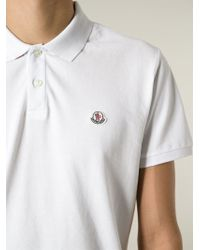 Moncler - White Classic Polo Shirt for Men - Lyst
