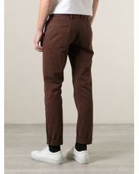 Incotex - Red Stone Washed Relaxed Trousers for Men - Lyst
