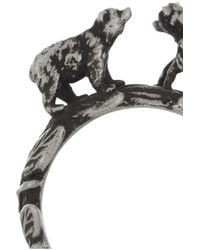 Pamela Love - Metallic Silverplated Grizzly Bear Ring - Lyst