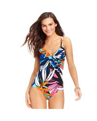 INC International Concepts | Multicolor Printed Ruffle One Piece Swimsuit | Lyst