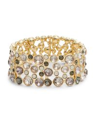 Catherine Stein | Pink Embellished Stretchy Cuff Bracelet | Lyst