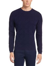 HUGO | Purple Sweater In Cotton Blend: 'sonur' for Men | Lyst