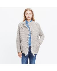 Madewell | Natural Fringe Open Cardigan Sweater | Lyst