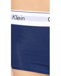 Calvin Klein - Blue Modern Cotton Boy Shorts - Lyst