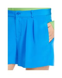 Polo Ralph Lauren | Blue Pleated Silk Short | Lyst