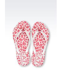 EA7 | White Flip Flops | Lyst