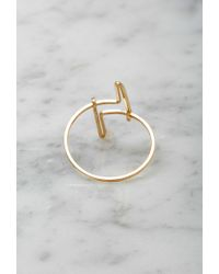 Forever 21 - Metallic By Boe Double Linear Ring - Lyst