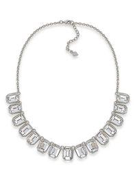Carolee | Metallic Dark Star Crystal Drop Frontal Necklace for Men | Lyst