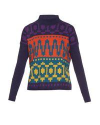 Tak.ori - Multicolor Intarsia-knit High-neck Sweater - Lyst