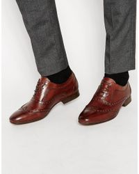 H by Hudson | Brown H By Hudson Francis Oxford Brogue Shoes for Men | Lyst