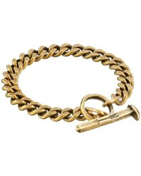Giles & Brother - Metallic Spike Toggle Chain Bracelet for Men - Lyst
