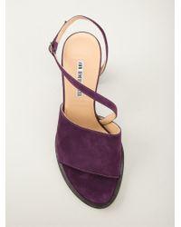 Ann Demeulemeester - Purple Chunky Heel Sandals - Lyst