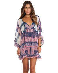 Free People | Blue Paradise Song Printed Tunic - Navy Combo | Lyst