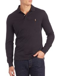 Polo Ralph Lauren | Black Cotton Polo for Men | Lyst