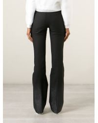 Filles A Papa - Black 'montana' Flared Trousers - Lyst