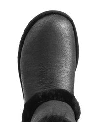 UGG - Airchart Leather And Sheepskin Boots - Black - Lyst