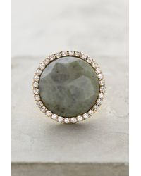 Anthropologie | Gray Shimmer-Round Ring | Lyst
