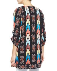 Tolani - Brown Kamaya Embroidered Long Tunic - Lyst