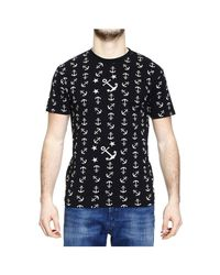 Mauro Grifoni - Blue T-Shirt Half Sleeve With Anchor for Men - Lyst