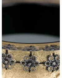Nicholas King | Natural Oxi Flower Bangle | Lyst