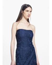 Mango | Blue Guipure Gown | Lyst