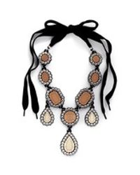 Yazbukey | Brown 'gold Diamonds' Gemstone Plexiglas Necklace | Lyst
