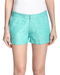Joie - Blue Merci Linen Shorts - Lyst