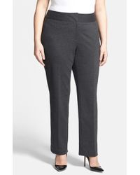 Vince Camuto | Gray Stretch Trousers | Lyst