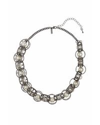 TOPSHOP - Natural Caged Pearl Collar - Lyst