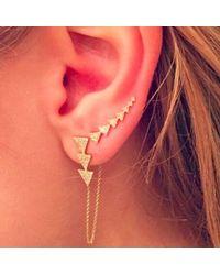 Anne Sisteron - Metallic 14kt Yellow Gold Diamond Triangle Ear Cuff - Lyst
