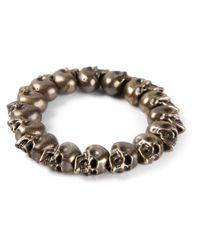Alexander McQueen | Brown Skull Bead Bracelet | Lyst