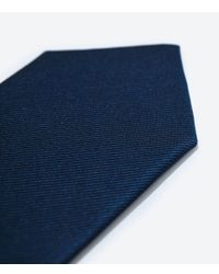 Zara | Blue Tie for Men | Lyst