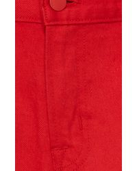 Simone Rocha - Red Ace Ruffled Loose-Fit Jeans - Lyst