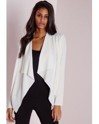 Missguided | Waterfall Blazer White | Lyst