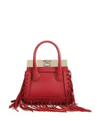 Dee Ocleppo - Red Roma Mini Convertible Fringed Leather & Suede Tote - Lyst