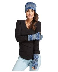 Threads For Thought - Blue Zig Zag Fingerless Gloves - Lyst