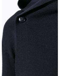 Rick Owens - Blue Knit Hoodie - Lyst
