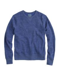 J.Crew - Blue Preorder Slim Lightweight Crewneck Sweatshirt for Men - Lyst