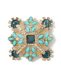 Banana Republic - Blue Sparkle Cabochon Pin - Lyst