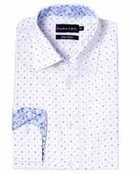 Double Two - Blue Polka Dot Classic Fit Classic Collar Formal Shirt for Men - Lyst