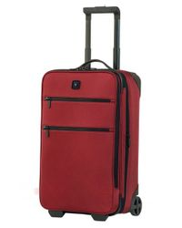Victorinox | Red Victorinox Swiss Army 'lexicon 22' Wheeled Carry-on for Men | Lyst