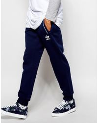 Adidas Originals - Blue Superstar Skinny Trackpants In Chaos Print for Men - Lyst