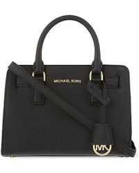 MICHAEL Michael Kors | Dillon Small Leather Satchel, Women's, Black | Lyst