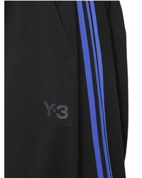 Y-3 | Blue Cotton Jersey Sarouel Jogging Pants for Men | Lyst