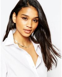 ASOS | Metallic Limited Edition Plaited Chain Link Choker Necklace | Lyst