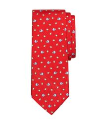 Brooks Brothers - Red Football Print Tie for Men - Lyst